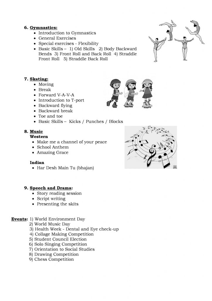 Std. V A – A Glimpse into the  Co-curricular Activities: June – July, 2013.