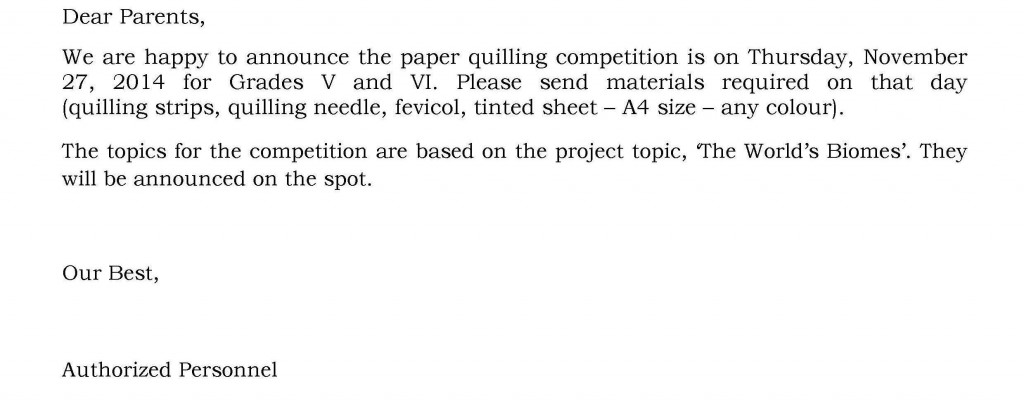 [35] Circular - Paper Quilling Competition - Grades V and VI