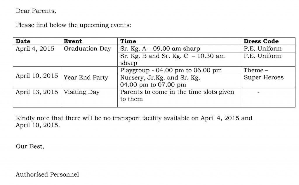 UB/C/60 – Circular for Upcoming Events.