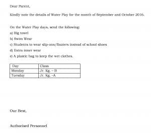 Jr. Kg.  – Water Play Activity