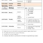 Class 3 Term I – First Formative Assessment Schedule 2018-19