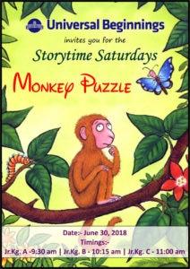 Invite for Storytime Saturdays.