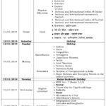 Class IX – Second Formative Assessment Schedule – 2018-19.